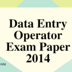 Uttarakhand Data Entry Operator Exam Paper (Group C) - 2014