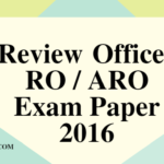 Uttarakhand Review Officer RO / ARO Exam Paper 2016