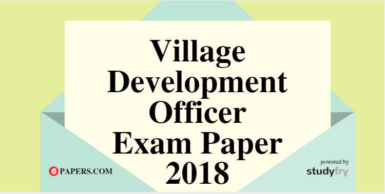Village Panchayat Development Officer (VDO VPDO) - 2018