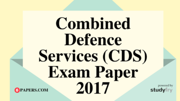 Combined Defence Services (CDS) Solved Exam Paper 2 - 2017