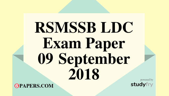 RSMSSB LDC exam paper N to R - 2018 English Paper (Answer Key) First Shift