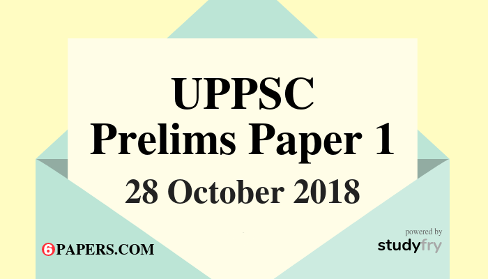 UPPSC 2018 Prelims Paper 1 Answer Key (English Paper)
