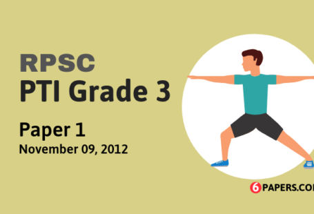 RPSC PTI Grade 3 exam paper - 2011 (Paper 1) (English)