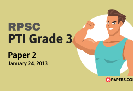 RPSC PTI Grade 3 exam paper - 2011 (Paper 2) (English)