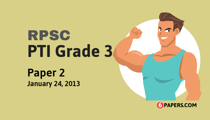 RPSC PTI Grade 3 exam paper - 2011 (Paper 2) (English)