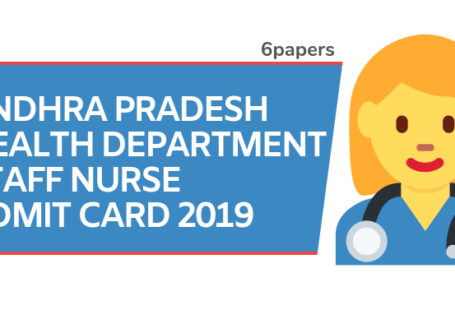 AP Health Department Staff Nurse Admit Card 2019