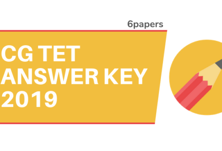 CG TET Answer Key 2019 CG Vyapam Answer Key 2019