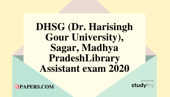 DHSG Library Assistant Question Paper with Answer Key 2020 - PDF