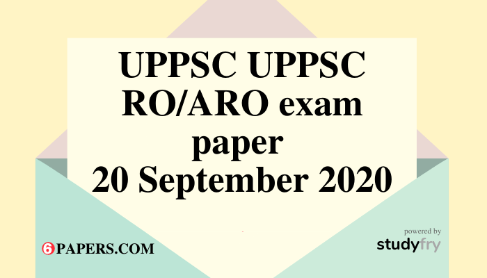 UPPSC RO/ARO Prelims Official Answer Key 2020