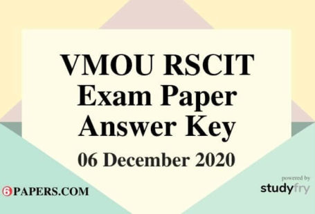 RSCIT Answer key 6 December 2020